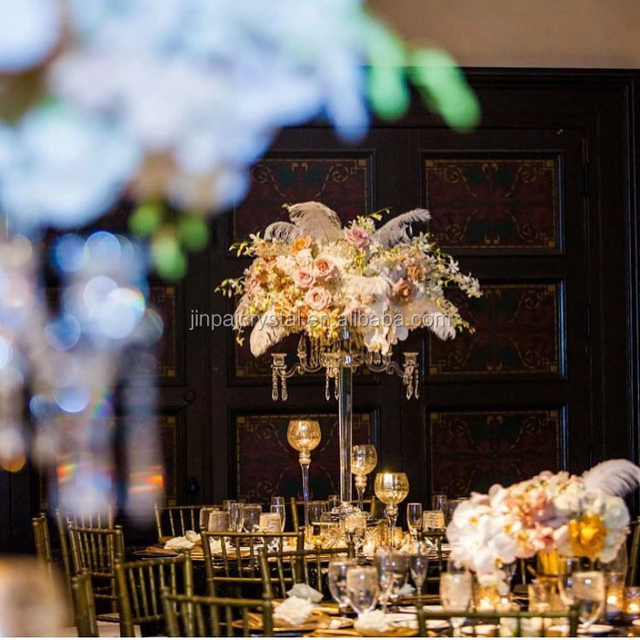 Buy cheap china crystal wedding centerpieces for tables flower wholesale tall 9 arms table crystal candelabras and flower stands for wedding table centerpieces junglespirit Choice Image