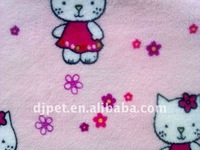 baby animal cat printed coral fleece fabric