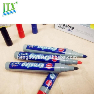 Promotional Colored Washable Ink Fabric Medium Textile Whiteboard Marker Pen/easy wipe marker pen