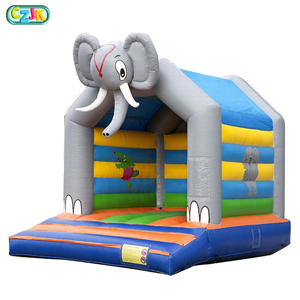 Inflatable Elephant Bouncy Castle Jumper Kids Bouncer Toys Bed Commercial Moon Bounce