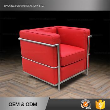 High Elasticity Sponge Red Color Sofa Indian Living Room Furniture
