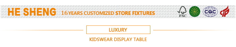 Display table childrenswear store fixtures. luxury style HC07L02