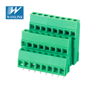 WANHAI triple level 3 row pitch 5.0/5.08mm pcb screw Terminal block 100 amp terminal block JM500A3/B3-5.0/5.08