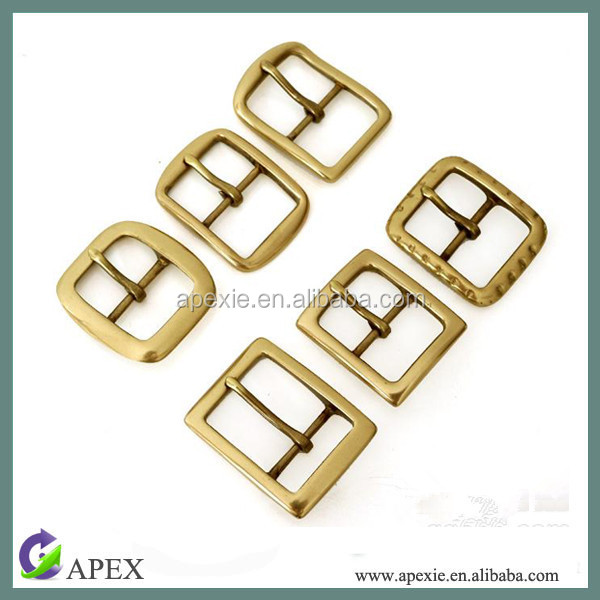 Gold Small Pin Shoe Buckle Metal Pin Buckle For Belt