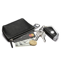 High quality pebble leather coin wallet hot sale leather key pouch durable genuine leather small pouch