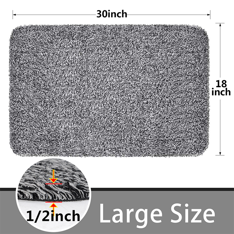 Entrance Bath Mat Customized Outdoor Indoor Front Door Mat Non-Slip  Absorbent Floor Mat