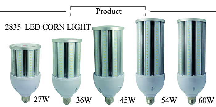 CE RoHS UL Certification IP64 27w 36w 45w 54w 60w 80w 100w 120w 150w led corn lamp