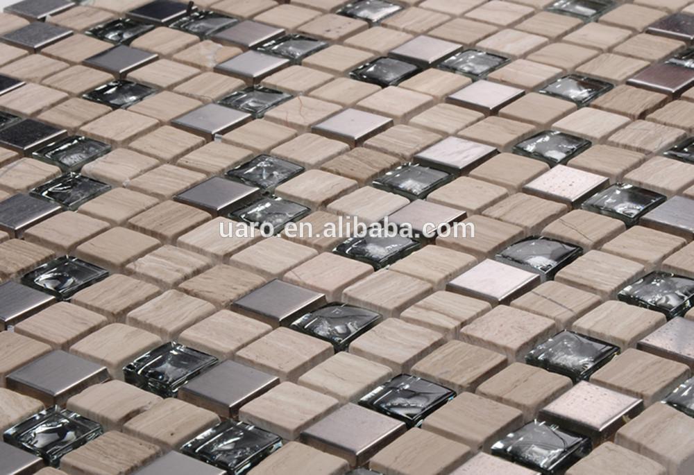 Metel Cristal Mosaico De Vidrio Mezcla Mosaico Azulejo De