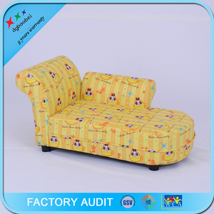 Leather Chaise Lounge Sofa Bed For Kids