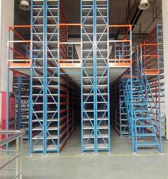 Industrial Floor Shelving Steel Rack Floor Warehouse Mezzanine Racking