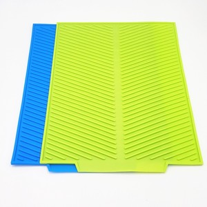 Silicone rubber table mat, colorful silicone mat,silicone dish drying mat