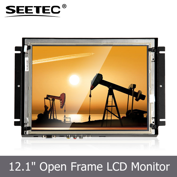 Open frame led backlight vga input connect to PC audio output 12.1 inch karaoke monitor