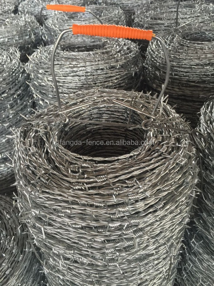 barbed wire philippines / barbed wire roll price fence / barbed wire weight per meter