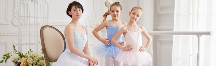 New Design Long Sleeve Dance Leotard With Chiffon Skirt For Girls