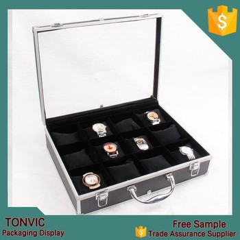 Wholesale Large Travel Watch Jewelry Box Case Aluminium Display With