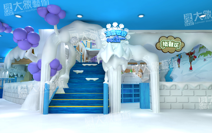 Snow/Ice Theme Decoration for Amusement Park