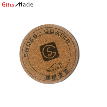 Factory wholesale custom cork drink coaster / wooden coaster set