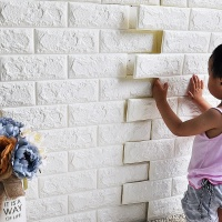 3D foam wall tile Decor design 3D Brick PE Foam wallpaper/wall panel/sticker home decoration for TV background
