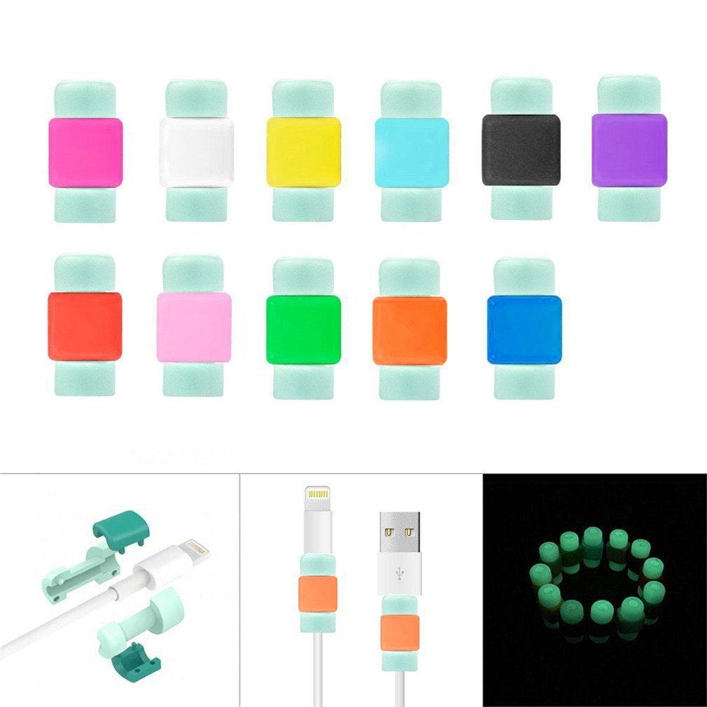 Cheap Apple Charger Extension Cable Find Usb Power Cord Wire Diagram Get Quotations Protector Iphone Phifopack Of 11colorful Data Silicone