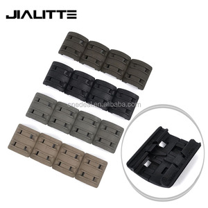 "Jialitte J230 16 Pack Rubber Snap On Rifle Picatinny Weaver Handguard Rail Protector Cover 1.58"" Width 4 Colors"