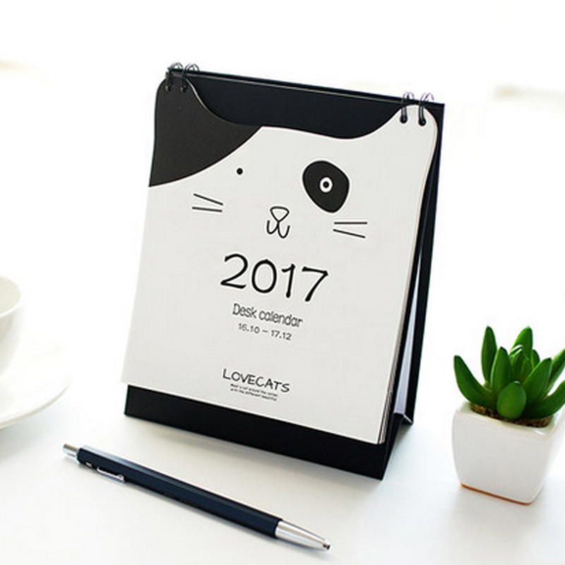 Desktop mini small desk calendar