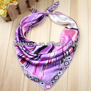 New fashion Casual Female Silk Small Square Wrap Flower Floral Printed Cute Fashion Scarf Muffler Hotel Office Workwear Scarves