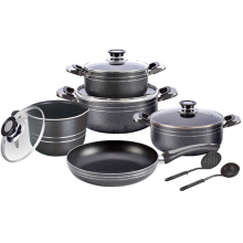 Bubuk Coating11pcs <span class=keywords><strong>Aluminium</strong></span> Non Stick Cookware <span class=keywords><strong>Set</strong></span>