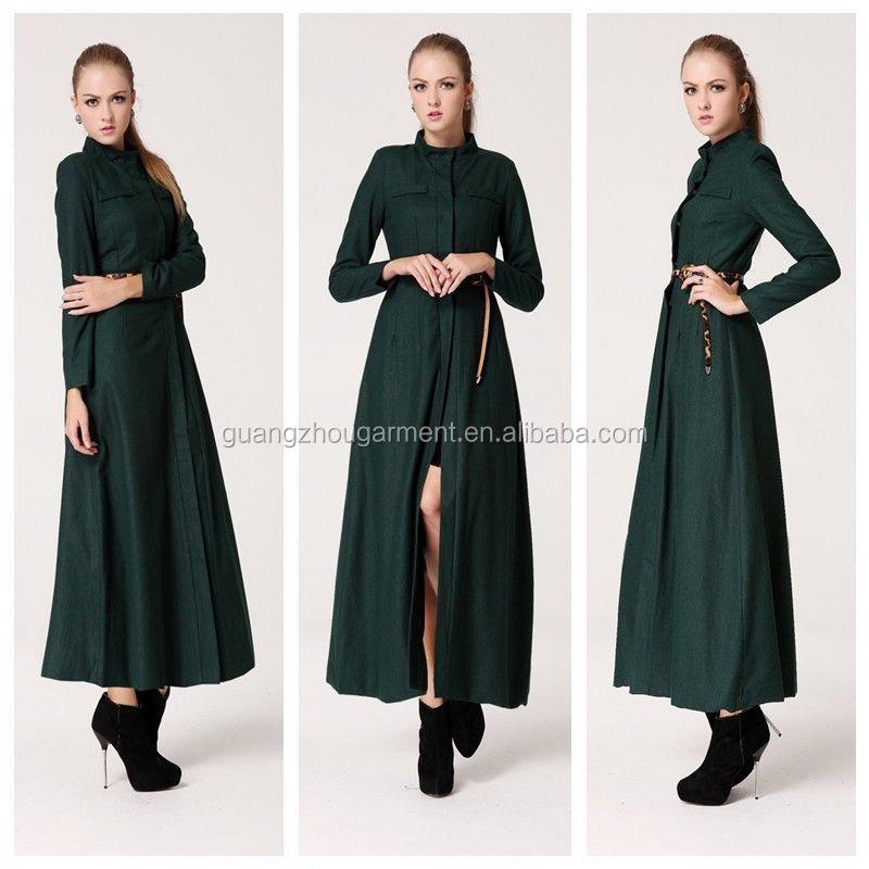 Women Slim Wool Blend Long Coat Woolen Trench Long Sleeve full length women  coat Collar Overcoat - Alibaba Manufacturer Directory - Suppliers, Manufacturers