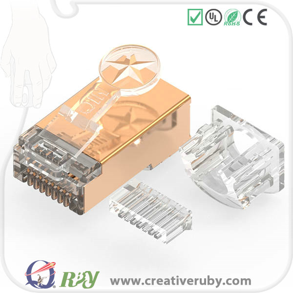 Credit sale ! high quality patent long shielded cat7 cable RJ45 connector plug welcome OEM