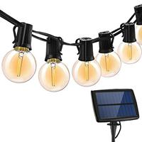20% Outdoor Solar LED String Lights for Garden 5.5m G40 with 2 Replacement Bulb