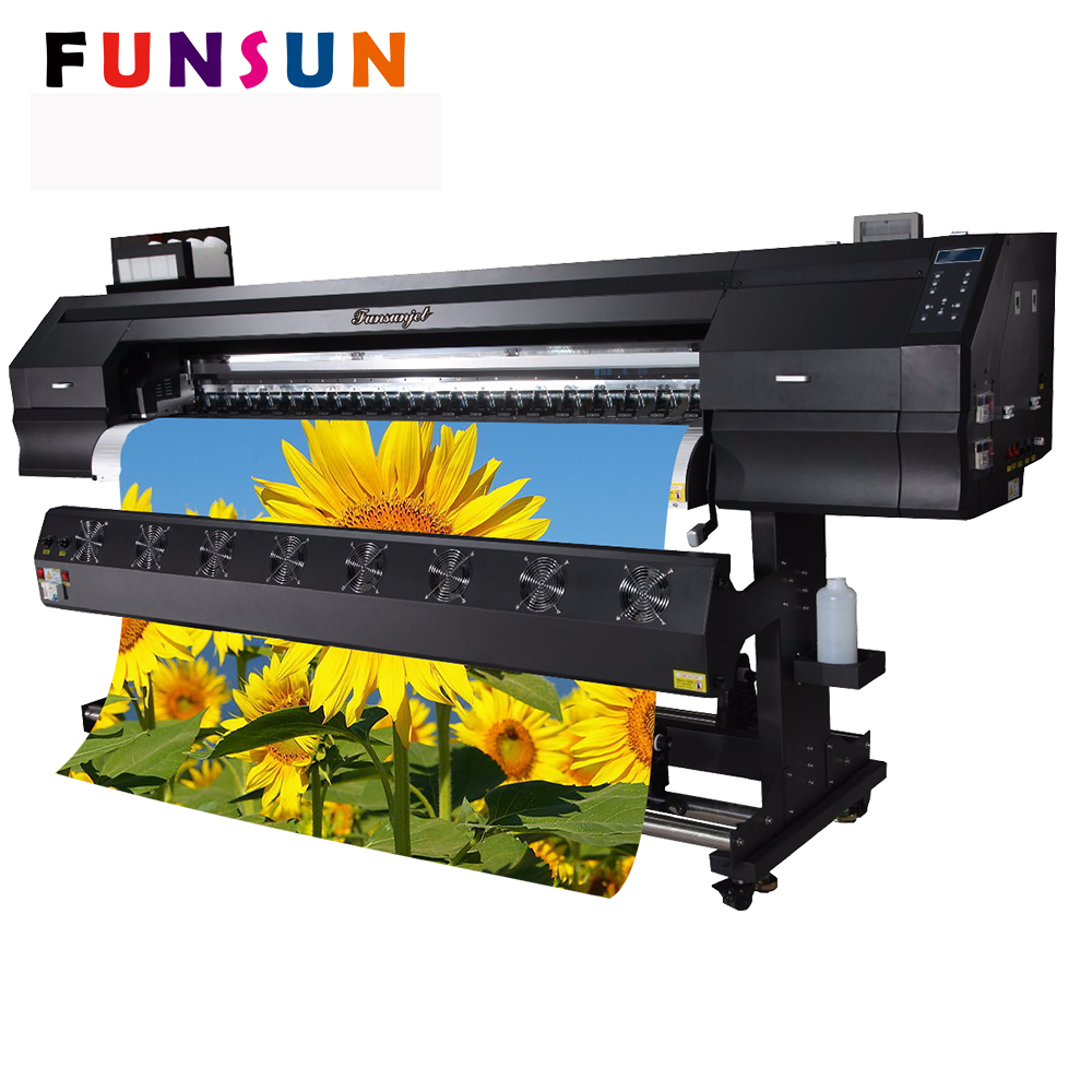 1 8m 6ft small logo printing machine for vinyl adhesive sticker and banner 1440 dpi