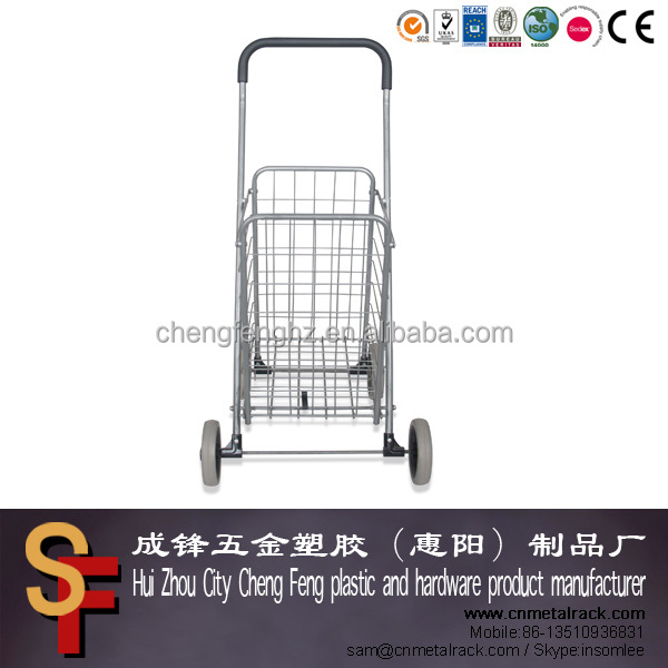 Easy Wheels Super Shopping Cart, Silver