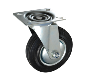 75-200mm swivel caster black rubber wheel industrial caster