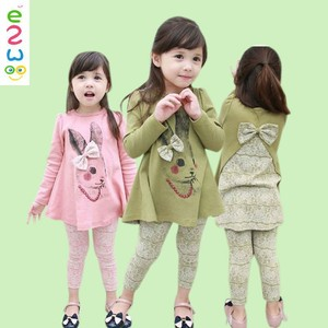 Kid Girl Boutique Long Tops And Matching Pants Clothing Sets From Online Store
