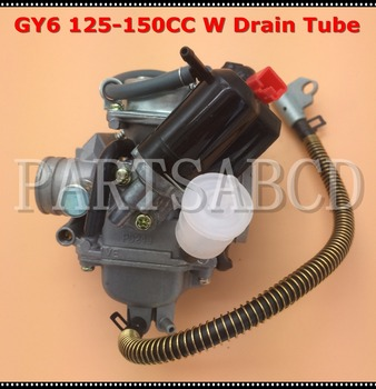 24MM GY6 150CC Carburetor with Drian Tube 150 Go Kart ATV Scooter Moped