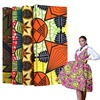 african wax print cotton fabric material for ladies