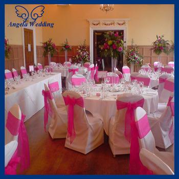 sh017b wholesale fancy cheap wedding organza tie hot pink