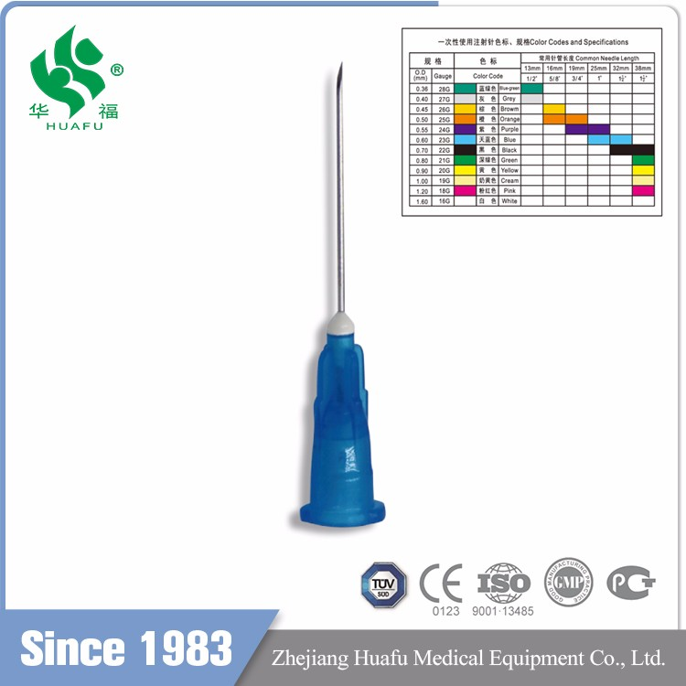 20G medical injector China Factory Disposable Syringe needle