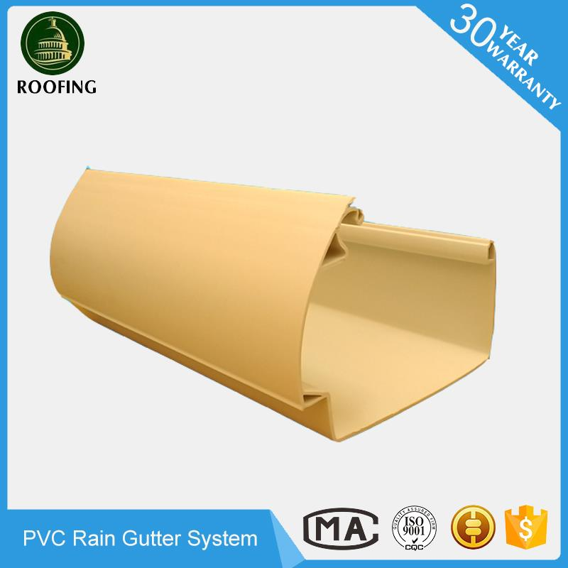 Wholesale pvc rain gutter fittings,pvc roofing gutter and downspout with low price