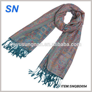 flower pattern Lady's Double Side Pashmina Shawl/Scarf