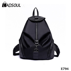 New Nylon Multifunctional Backpack Fashion Rivet Women Travel Backpack