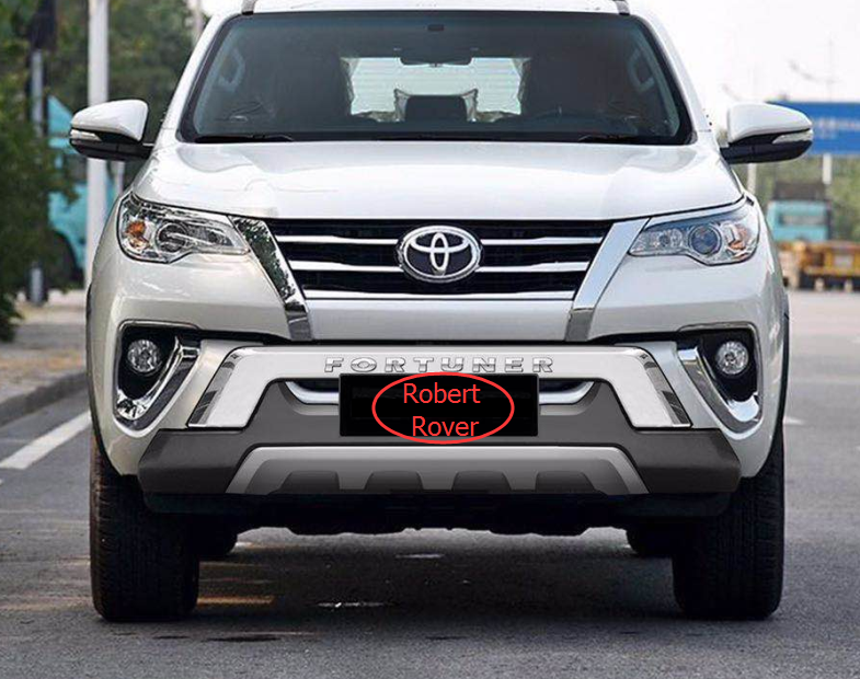 front and rear bumper guard for 2016 new fortuner , fortuner bumper guard body kit