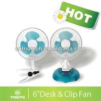 Electrical 6 Inch Mini Desk& Clip Fan