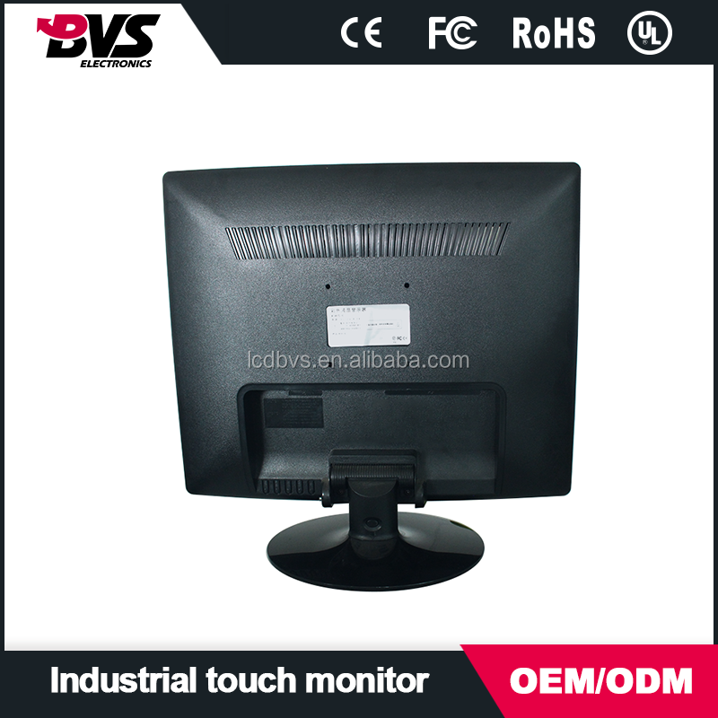 19 inch metal case industrial lcd monitor for industrial equipments 4:3 touch screen with VGA DVI RCA port