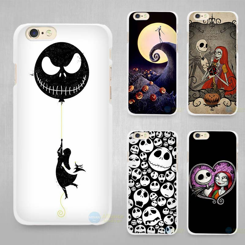 sports shoes 37127 0abc4 Jack Skellington The Nightmare Before Christmas Hard White Cell Phone Case  Cover for Apple iPhone 4 4s 5 5C SE 5s 6 6s 7 Plus on Aliexpress.com | ...