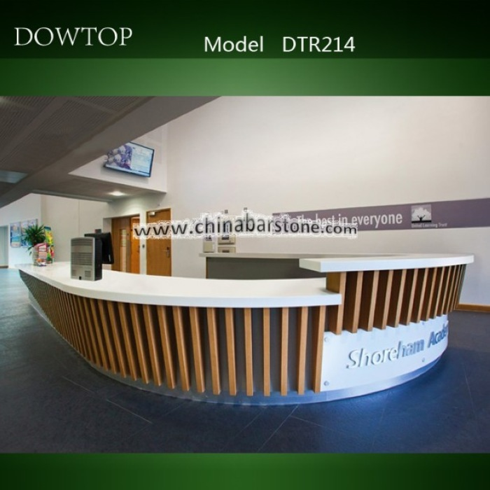 special design boat shape lacquer wood reception desk pure black bar table bar counter for bar - Hotel Reception Desk Design