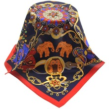 chinese style high quality women custom digital printing silk scarf