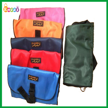 Encai Factory Newest Travel Hanging Toiletry Bags Camping Cosmetic Folding Makeup Organizer With Mirror