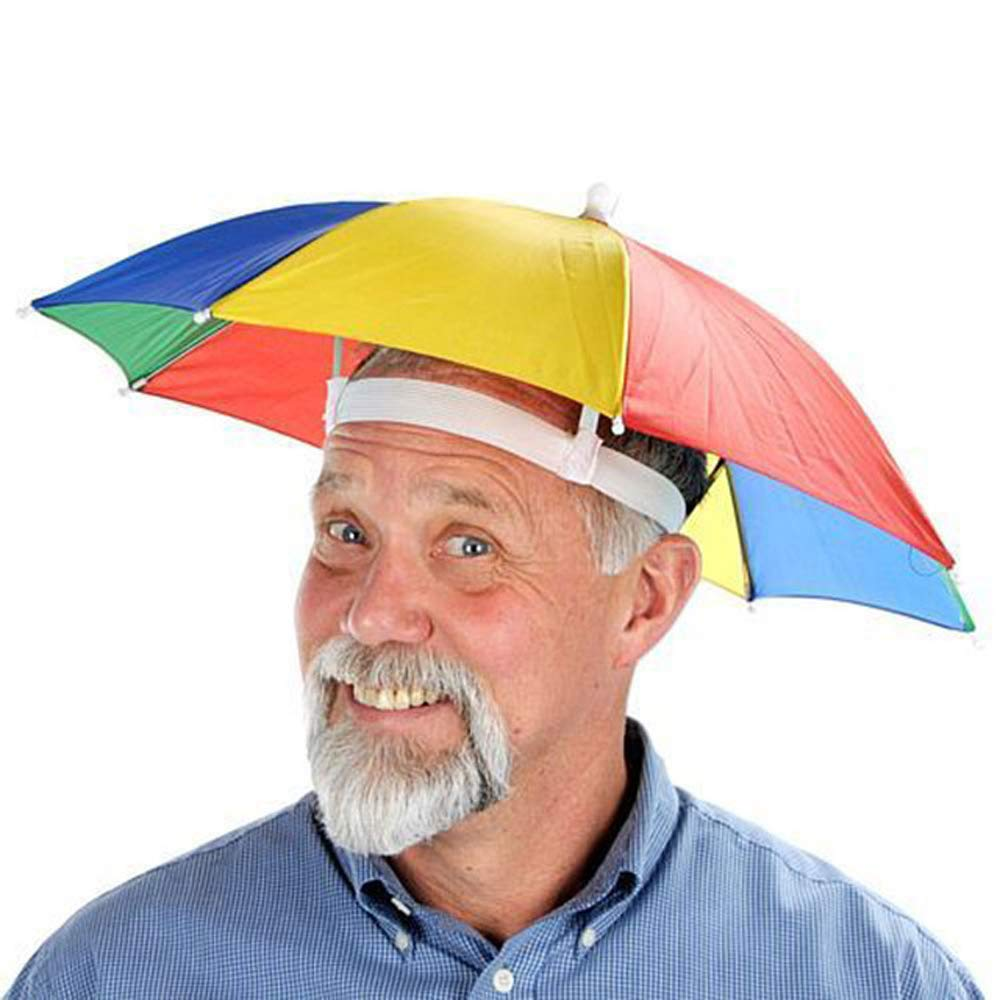 a1b1669e9da Get Quotations · Outdoor Rainbow Umbrella Hat Cap