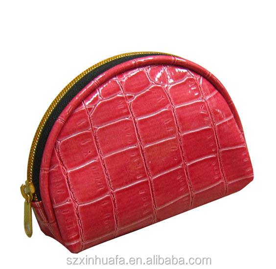 small zipper coin purse in croco pu
